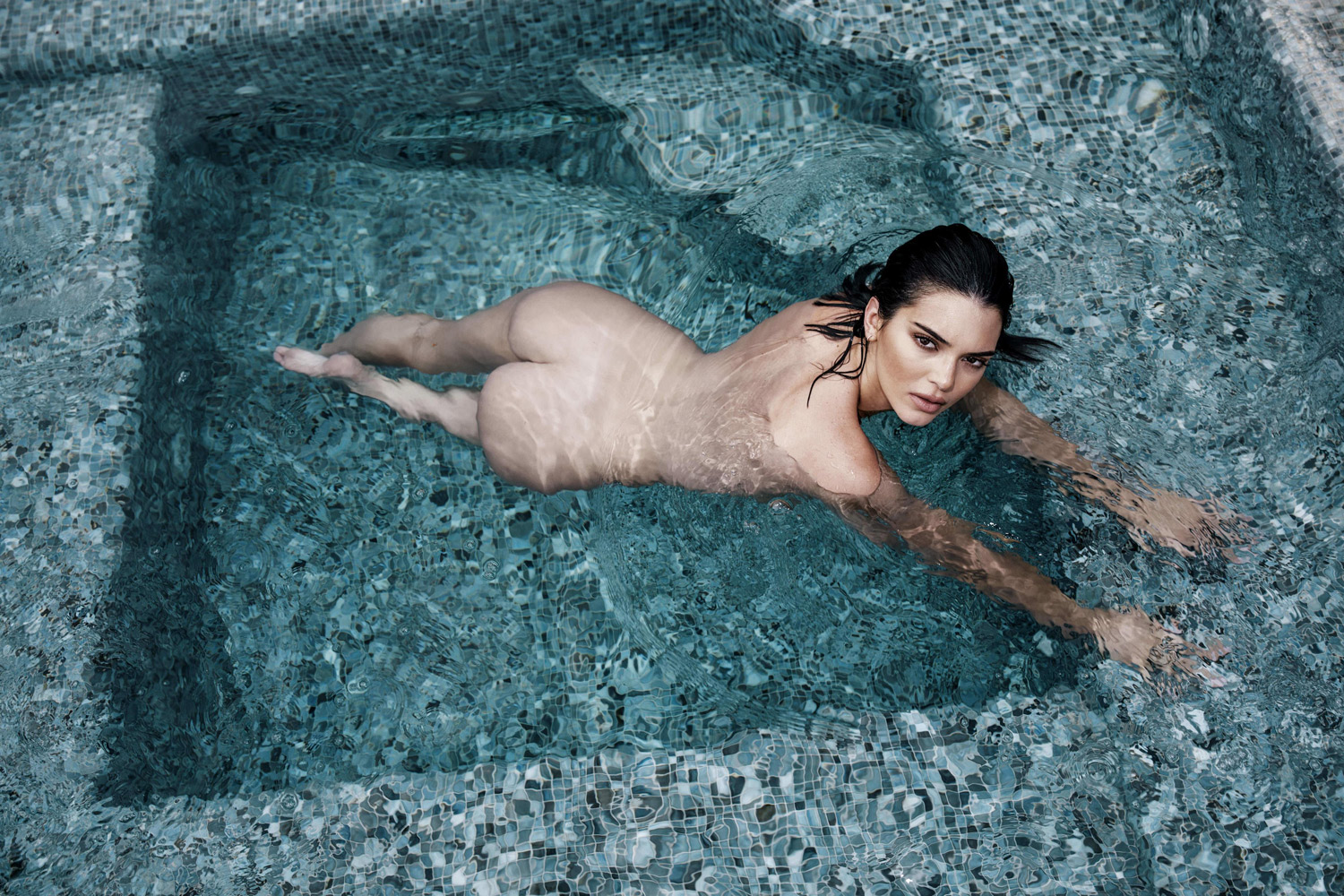 Kendall Jenner pool nude
